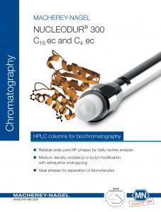 NUCLEODUR 300 C18 ec and C4 ec